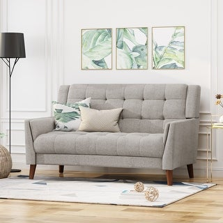 Link to Candace Mid Century Modern Fabric Loveseat by Christopher Knight Home Similar Items in Living Room Furniture