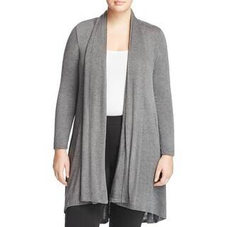 Bobeau Womens Plus Duster Sweater Drapey Open Front