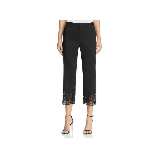 Shop Kobi Halperin Womens Oriana Dress Pants Lace Hem Cropped Free