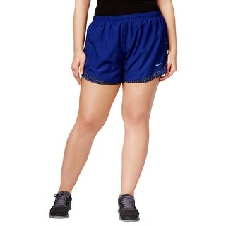 Nike Womens Plus Shorts Lined Flat Front