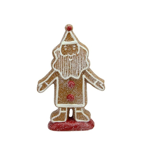 """8"""" Gingerbread Kisses Sugared Cookie Santa Claus Christmas Figure Decoration"""
