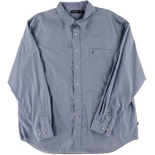 Nautica Mens Cotton Pattern Button-Down Shirt - XXL