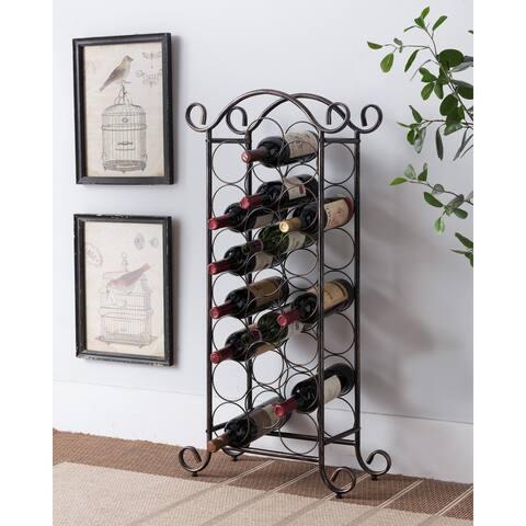Brushed Copper Metal Wine Rack