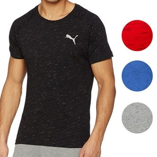 Puma NEW Mens Evostripe Space Knit Crewneck Raglan Dry Cell Tee T-Shirt