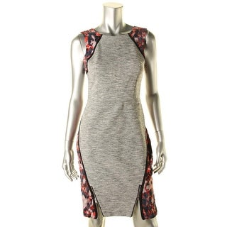 Rachel Rachel Roy Womens Printed Sheath Wear to Work Dress