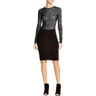 Theory Womens Wear to Work Dress Lace Long Sleeves
