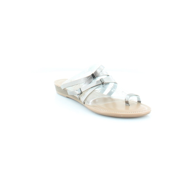 Bar III Vanita Women's Sandals & Flip Flops Pewter