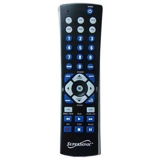Supersonic SC26BLK Universal Remote for 6 Components - Black