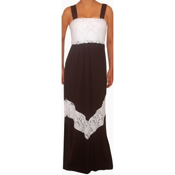 Funfash Black White Lace Chevron Maxi Long Dress Women Dress