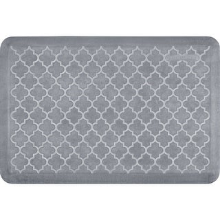 "WellnessMats Estates Trellis Anti-Fatigue Office, Bathroom, & Kitchen Mat, Beach Glass, 36"" by 24"""