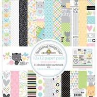 """Kitten Smitten - Doodlebug Double-Sided Paper Pack 12""""X12"""" 11/Pkg"""