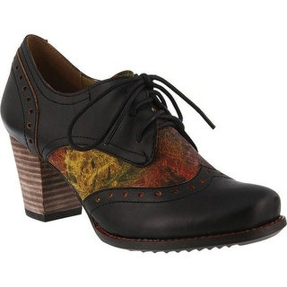 L'Artiste by Spring Step Women's Marivel Derby Oxford Black Leather