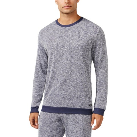 Kenneth Cole Reaction Mens Sleep Shirt Marled Long Sleeves