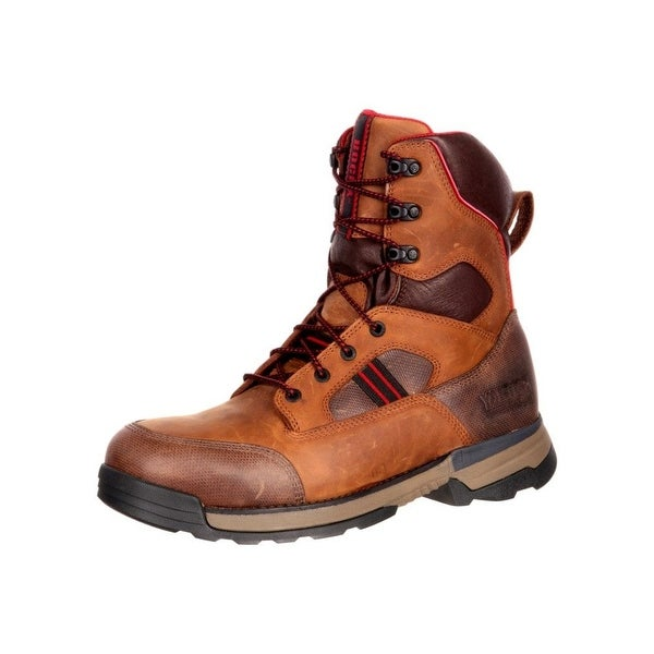 Rocky Work Boots Mens Mobilwelt Composite Toe Waterproof Brown