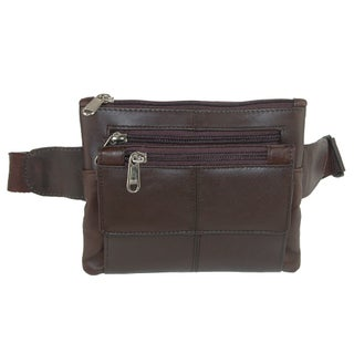 CTM® Leather Mini Waist Pack, Black (Option: Brown)