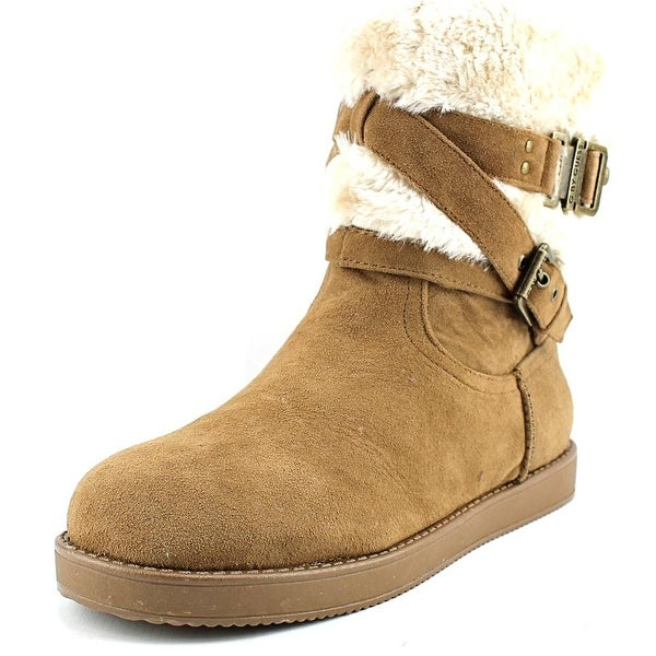 G By Guess Azzie Women Round Toe Canvas Tan Winter Boot