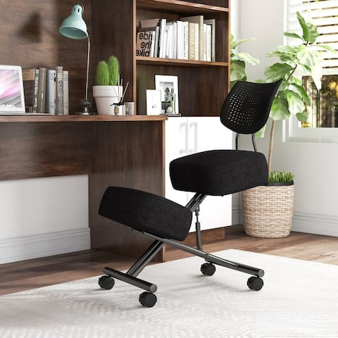 Furniture of America Kade Mobile Kneeling Chair with Back Support