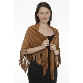 Women's Faux Suede Fringed Cape Shawl Wrap Scarf, Large Triangle|https://ak1.ostkcdn.com/images/products/is/images/direct/156f8e77104f898c38e4b1a898dbbb881ce83a8f/Women%27s-Faux-Suede-Fringed-Cape-Shawl-Wrap-Scarf%2C-Large-Triangle.jpg?impolicy=medium