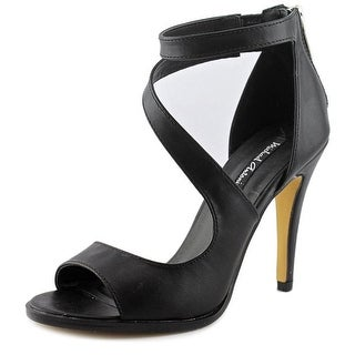 Michael Antonio Joyd Women Open-Toe Synthetic Black Heels