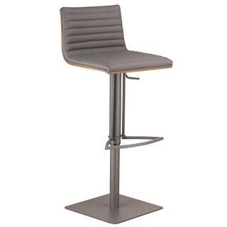Link to Armen Living Cafe Adjustable Grey Metal Barstool with Walnut Back Similar Items in Corner Bookshelves