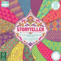 "First Edition Premium Paper Pad 12""X12"" 48/Pkg-Storyteller, 16 Designs/3 Each"