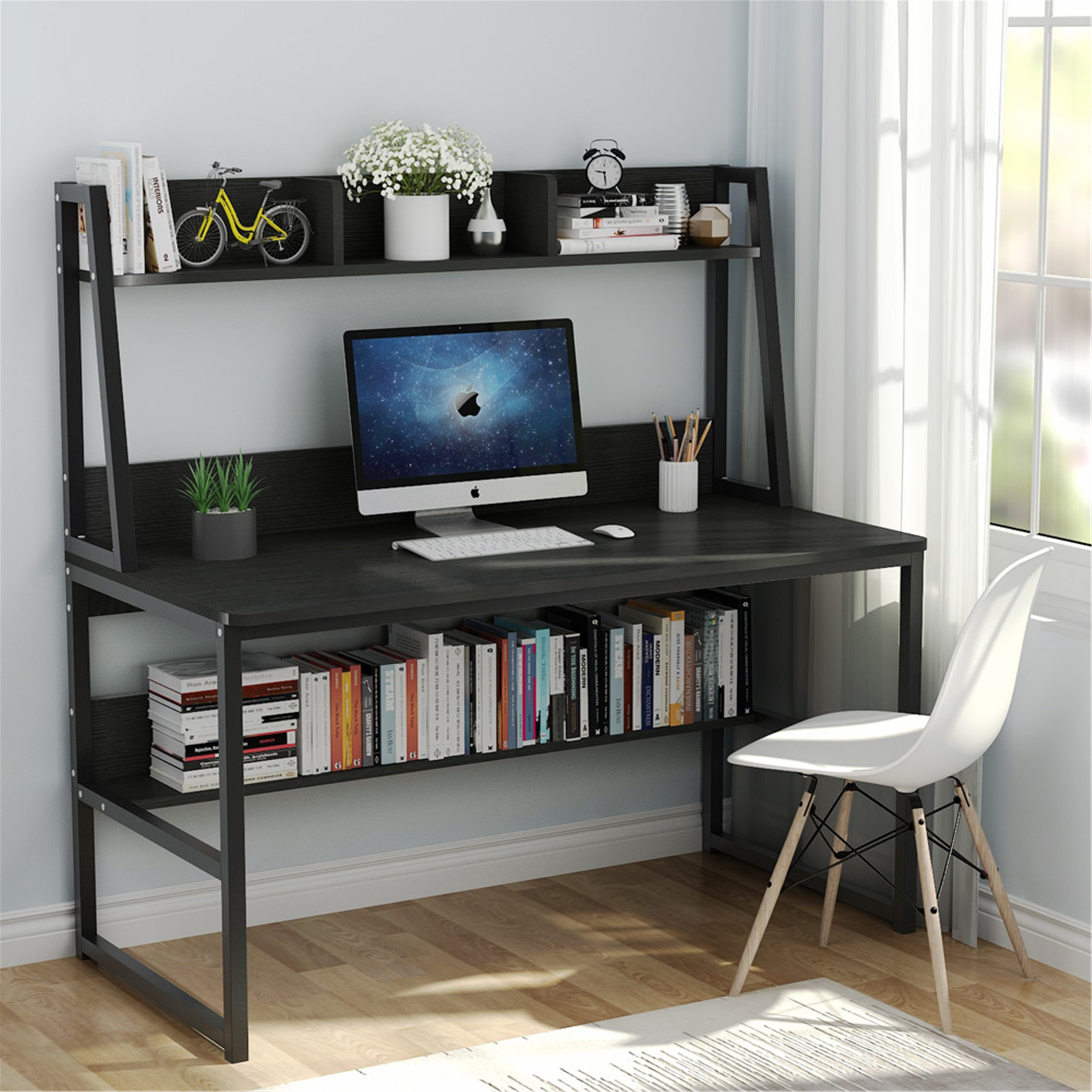 "32"" Computer Desk with Hutch and Bookshelf"