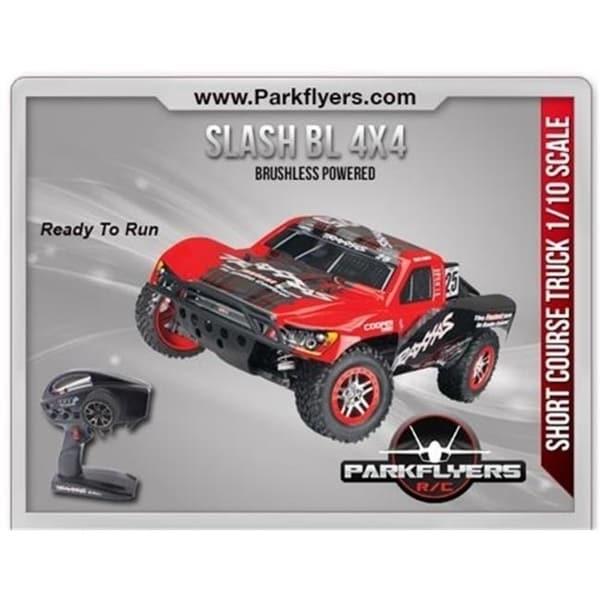 Shop ParkFlyers 68086-21 Traxxas 1-10 Slash BL 4x4 LCG RTR with