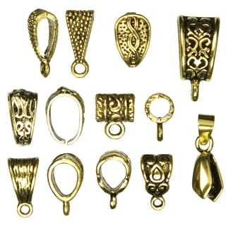 Jewelry Basics Metal Findings 13/Pkg-Gold Mixed Bail Pack - GOLD