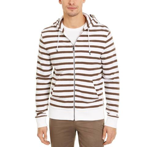 Michael Kors Mens Hoodie Striped Cotton - White