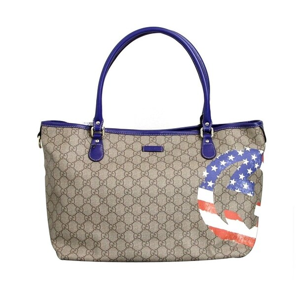 7a38126a0b1d Gucci Coated Canvas Flag Handbag Tote Bag 203693 (US Flag) - One Size