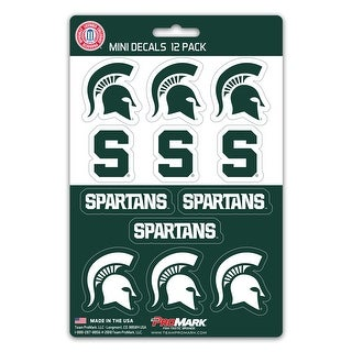 Michigan State Spartans Decal Set Mini 12 Pack