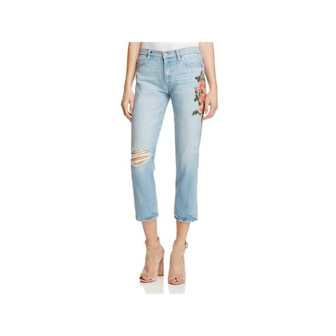 8acb280eb Sanctuary Womens Boyfriend Jeans Embroidered Distressed