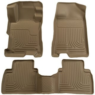 Husky Weatherbeater 2009-2013 Toyota Corolla/Matrix FWD Tan Front & Rear Floor Mats/Liners