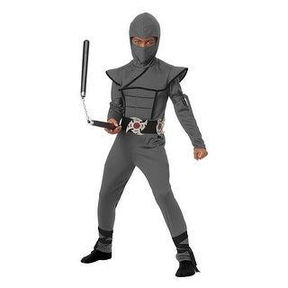 Boys Gray Stealth Ninja Halloween Costume