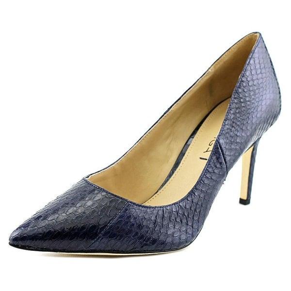 Via Spiga Carola Women Pointed Toe Leather Blue Heels
