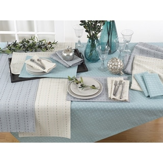 Link to Cotton Blend Tablecloth with Stitched Line Design Similar Items in Table Linens & Decor