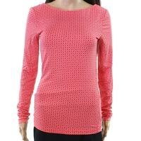 Hinge Women's Small Polka Dot Boat Neck Knit Top $24