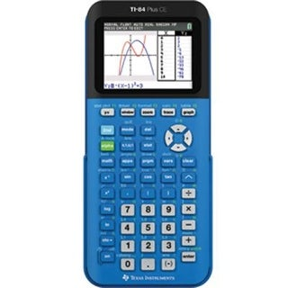 Texas Instruments 84Plce/Tbl/1L1/X Ti 84 Plus Ce Graphing Calculator - New Blue