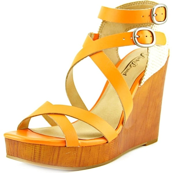 Lucky Brand Womens LAHOYA Leather Open Toe Casual Strappy Sandals