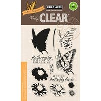 "Hero Arts Clear Stamps 4""X6""-Color Layering Swallowtail"