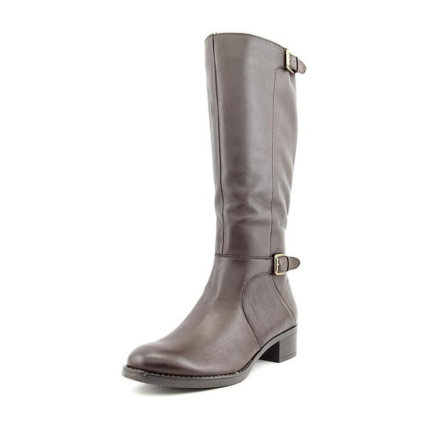 Franco Sarto Chilled Women Round Toe Leather Brown Knee High Boot