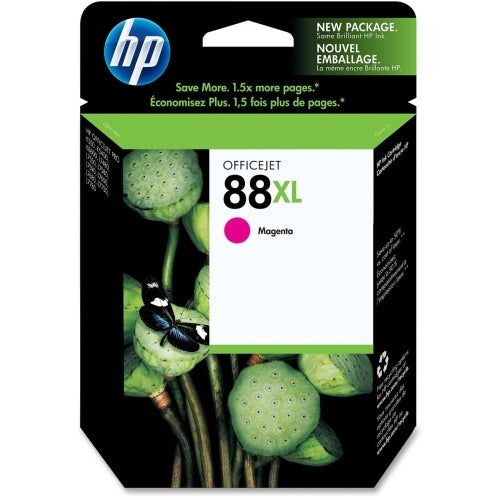 HP 88XL High Yield Magenta Original Ink Cartridge (C9392AN) (Single Pack) HP 88 Large Magenta Ink Cartridge - Magenta -