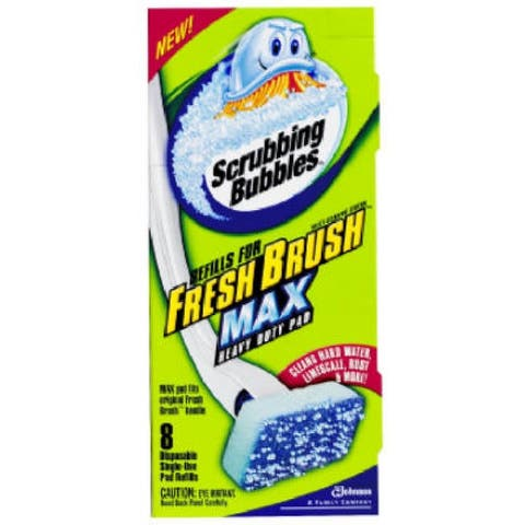 Scrubbing Bubbles 71103 New Fresh Max Refill, 8-Count