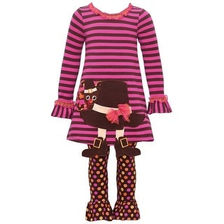 Bonnie Jean Baby Girls Brown Hat Boot Applique 2 Pc Thanksgiving Outfit