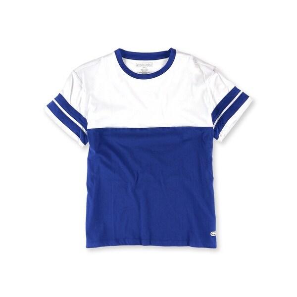 Ecko Unltd. Womens Colorblock Stripe Sleeve Basic T-Shirt. Opens flyout.