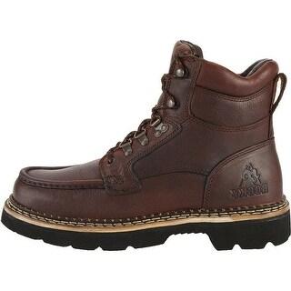 Rocky Outdoor Boots Mens Cruiser Chukka Casual Dark Brown FQ0002984
