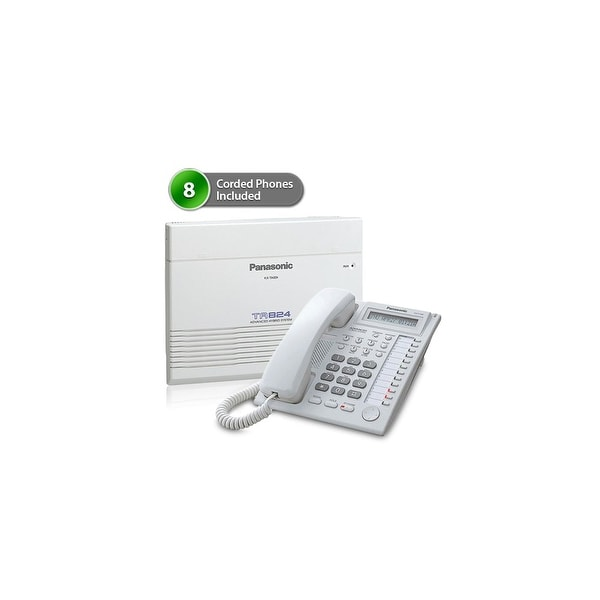 Panasonic KX-TA824-7730W (8 pack) Advanced Hybrid Telephone / Intercom System plus 8 Hybrid Phones KX-T7730