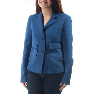 Womens Blue Wear To Work Blazer Jacket Size 4