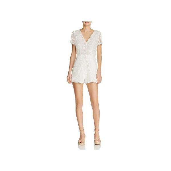 c46e61cc45e4 Shop Ramy Brook Womens Annanee Romper Lace Short Sleeves - On Sale ...