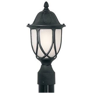 """Designers Fountain 2866-BK 1 Light 9"""" Cast Aluminum Post Lantern from the Capella Collection"""